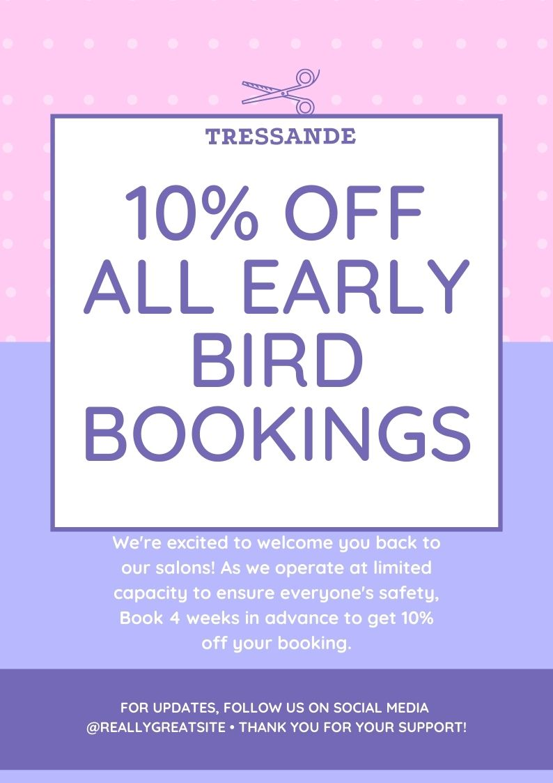 Pink and Purple Salons Back to Business Posters